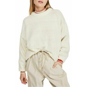 Free People Womens Knit Top Balloon Sleeve Sweater